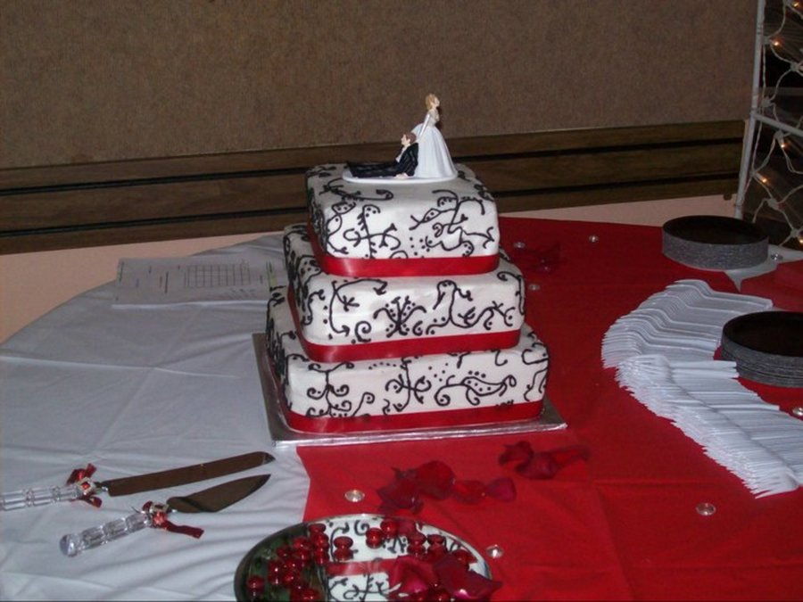 Scroll Wedding Cake on Cake Central