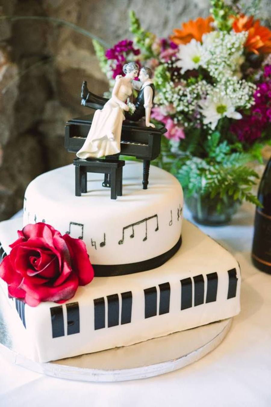 Jazz Piano And Music Note Wedding Cake Cakecentralcom