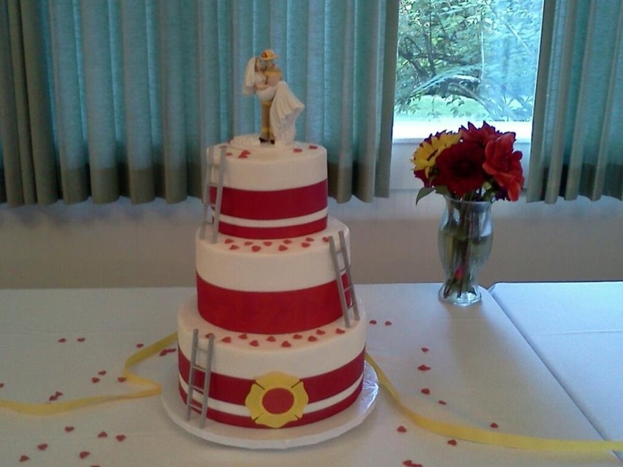 Fireman Wedding on Cake Central