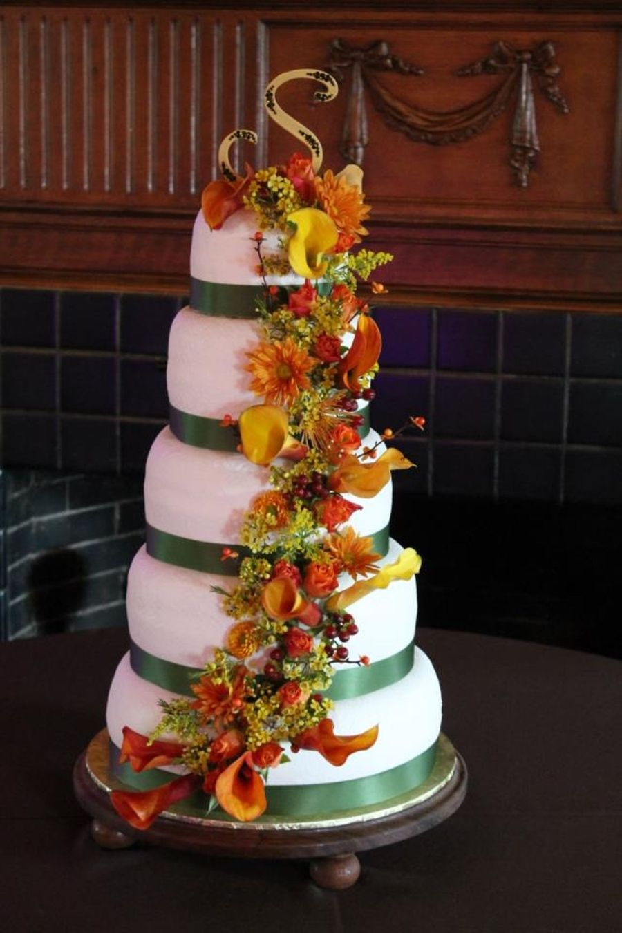 Fall Floral Cascade  on Cake Central