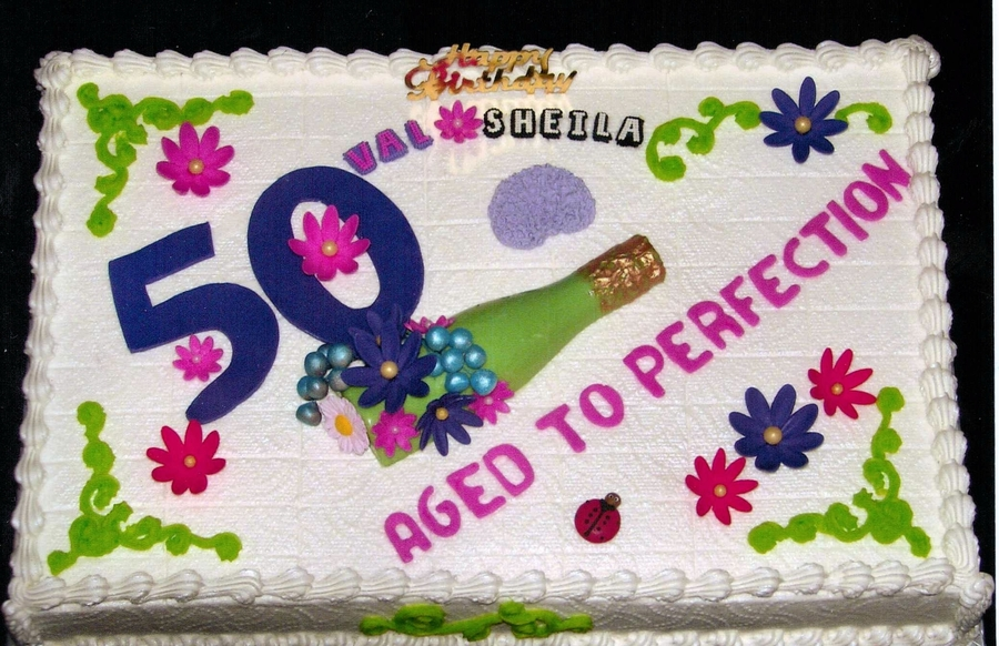 50 & Aged To Perfection on Cake Central
