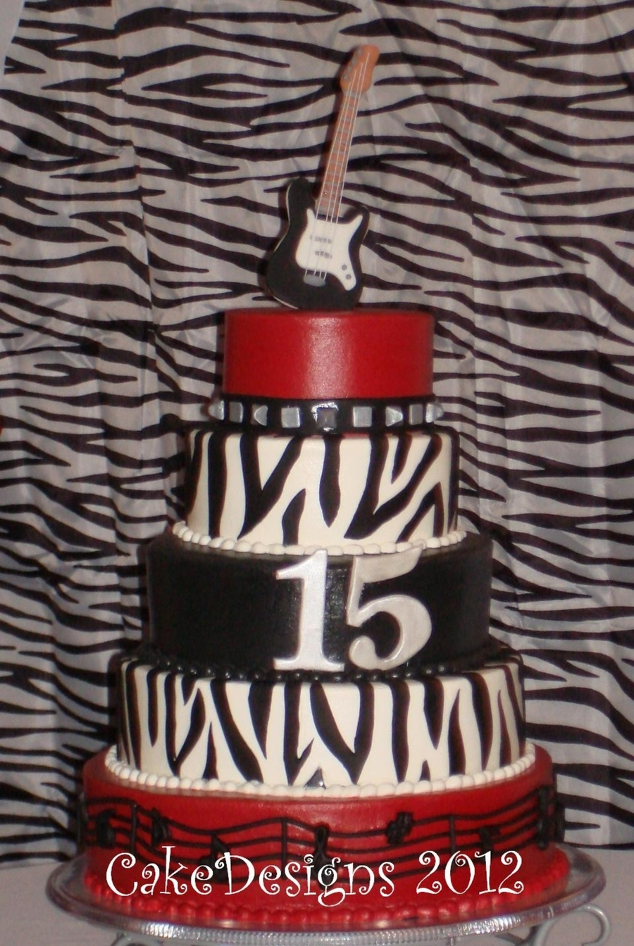 Rock Star Quinceanero on Cake Central