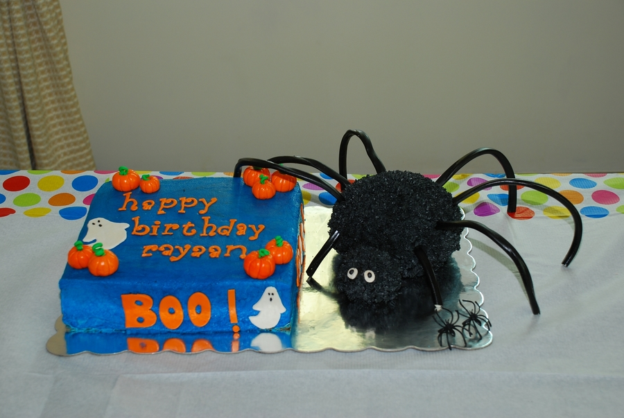 Halloween Spider Cake on Cake Central