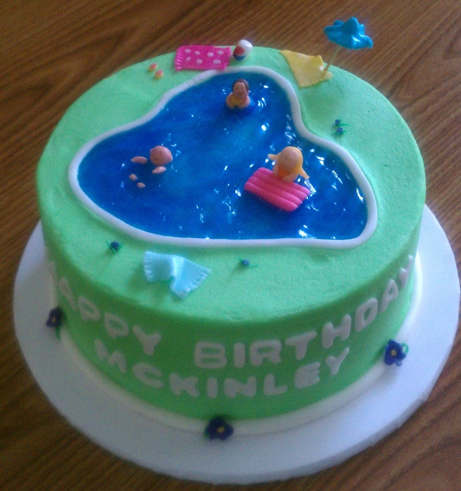Swimming pool themed birthday cake - Swimming pool birthday cake pictures ...
