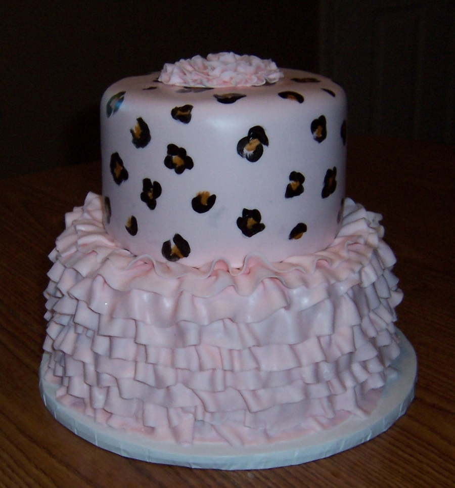 Leopard Print Ruffle Cake on Cake Central