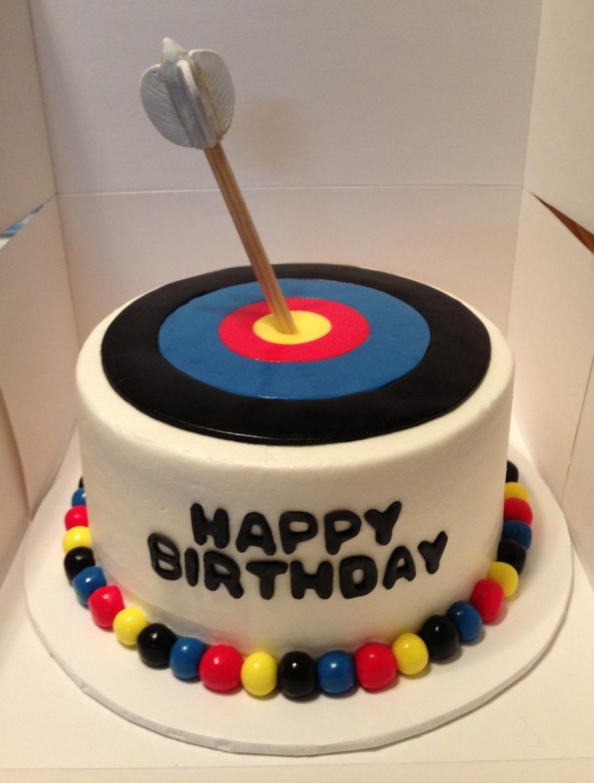 Archery Target Birthday Cake CakeCentralcom