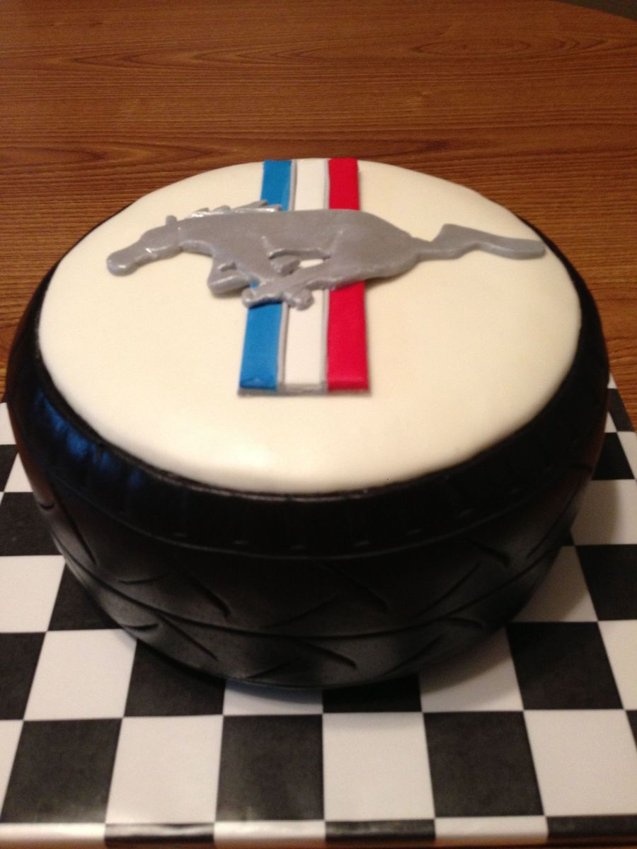 Mustang Birthday Cake - CakeCentral.com
