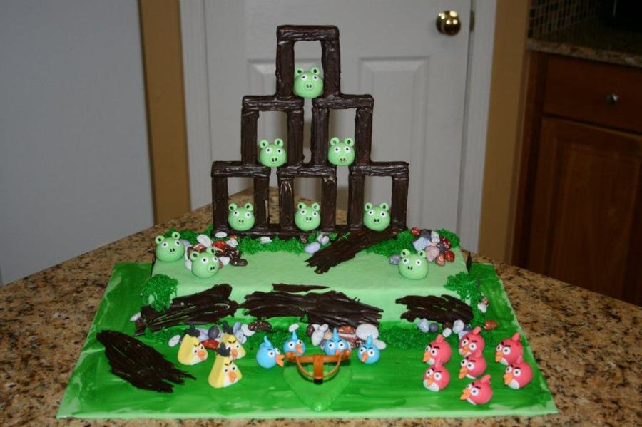 Angry Birds Cake For My Little Boy's Birthday. on Cake Central