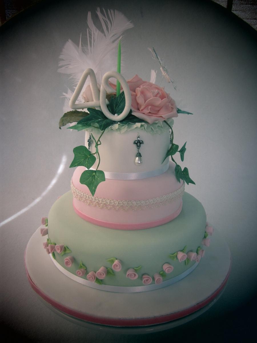 Kitsch 40th Birthday Cake Cakecentral Com