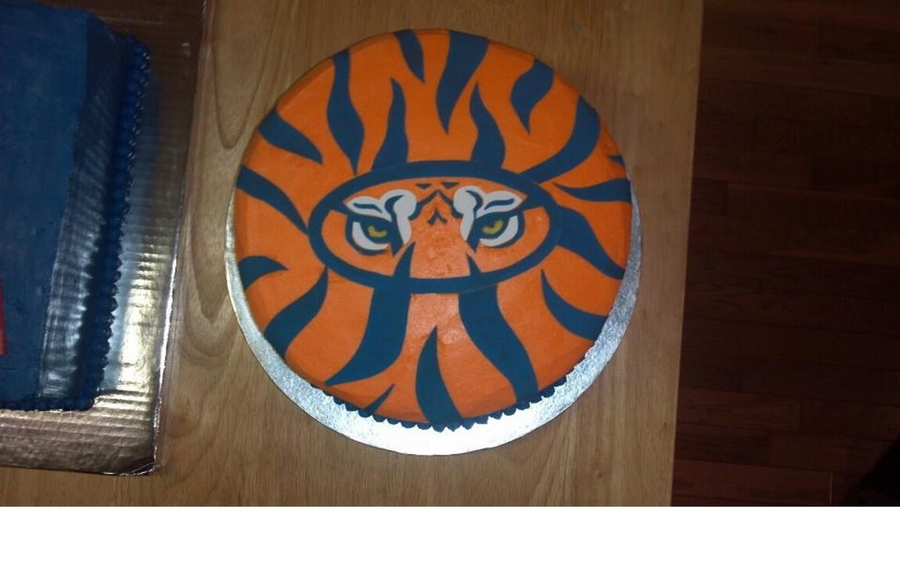Auburn Tiger Birthday Cake on Cake Central