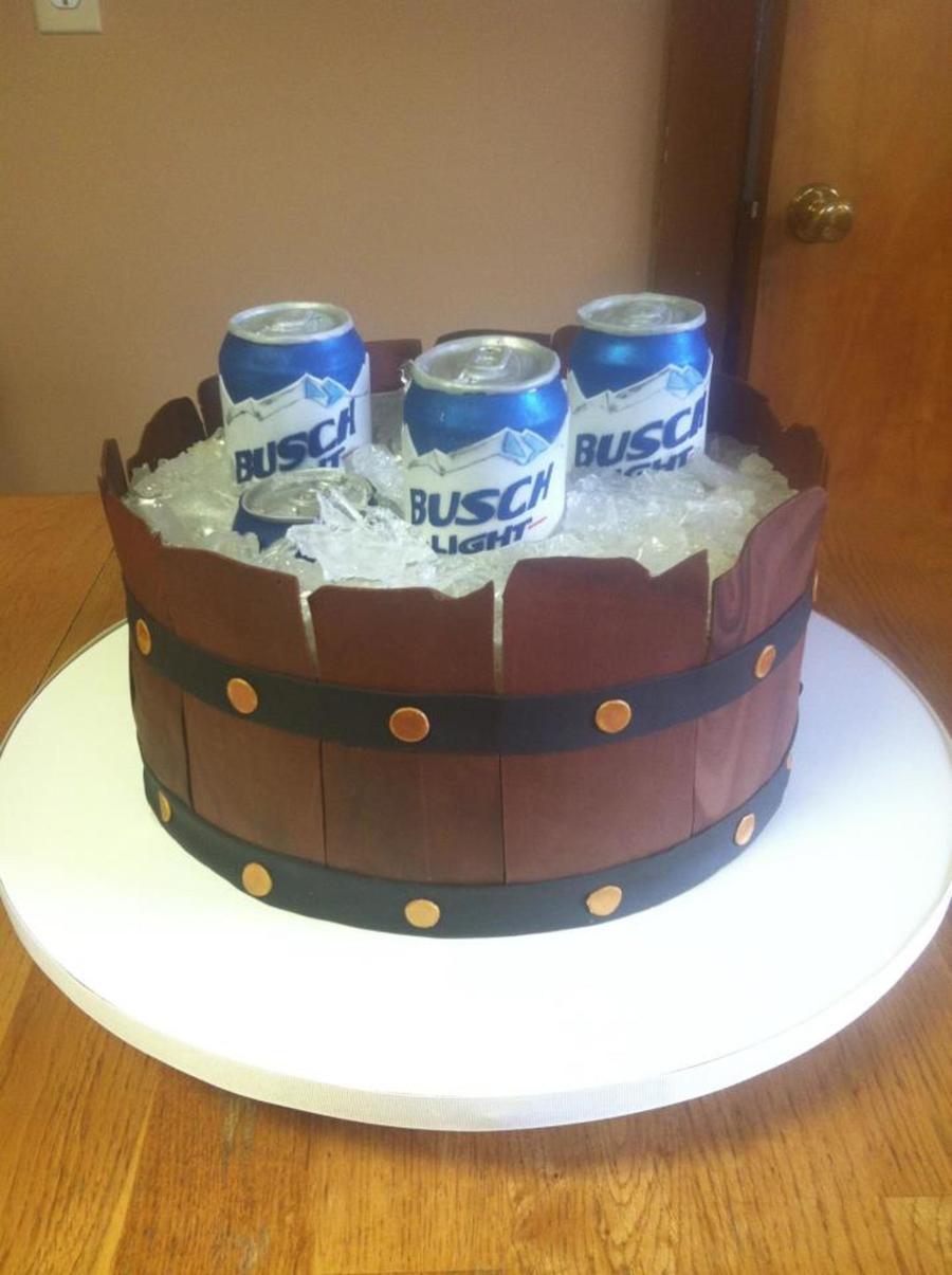 Beer Barrel Groom S Cake Cakecentral Com