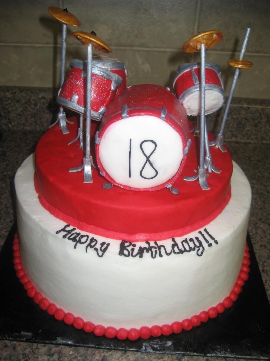 Cake Decorations Drum Kit : Drum Set Cake - CakeCentral.com
