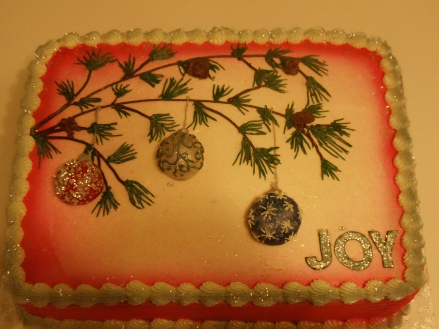 Christmas Tree Branch Cake on Cake Central