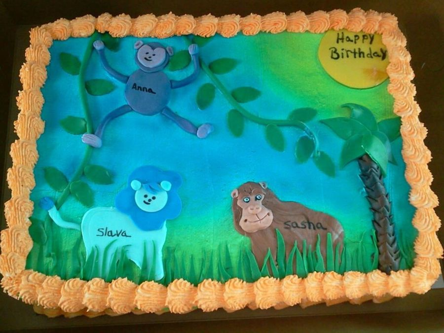 Jungle Birthday Cake 2 on Cake Central