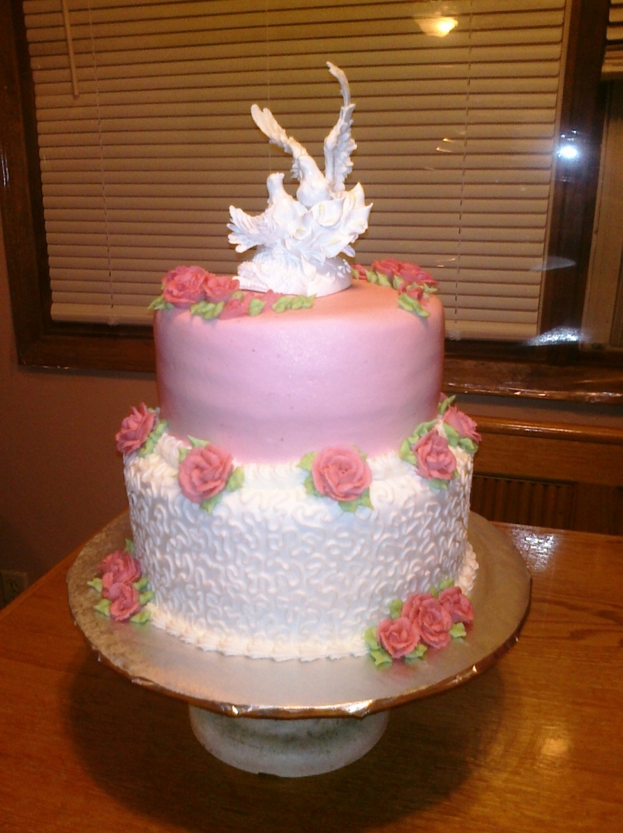 Pink Roses Wedding on Cake Central