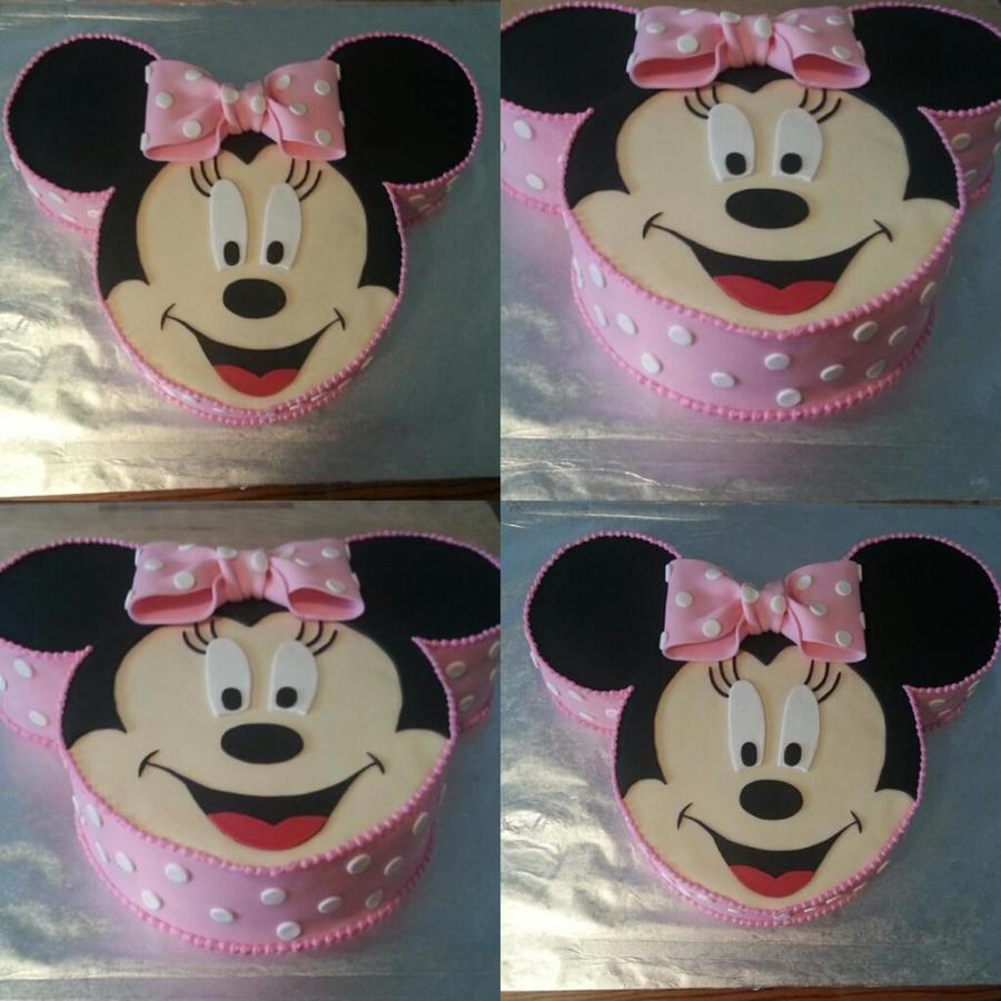 Excellent 1St Birthday Minnie Mouse Cakecentral Com Birthday Cards Printable Riciscafe Filternl