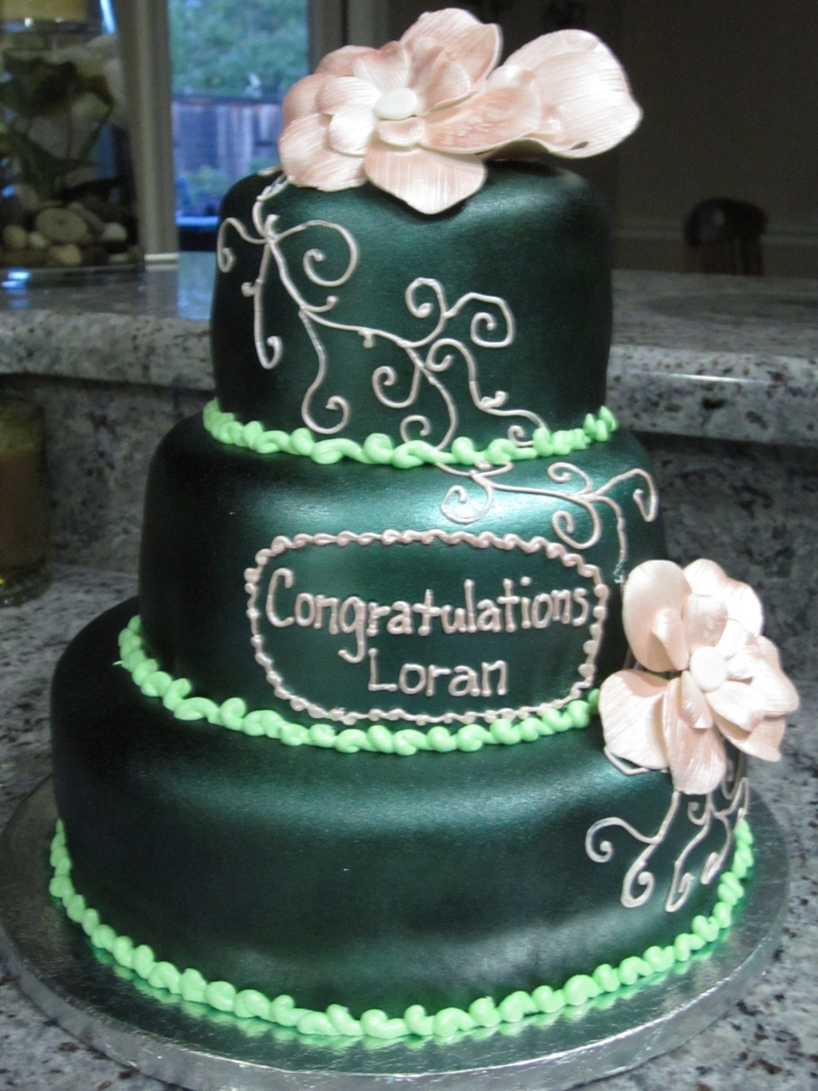 Green And Pink on Cake Central