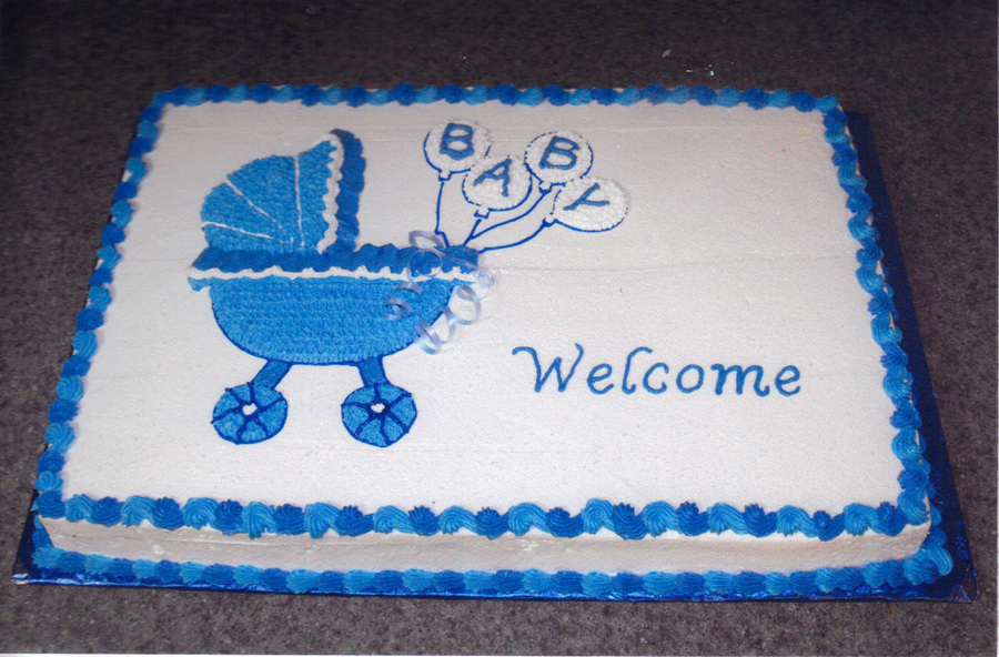 Baby Carriage Cake For A Boy on Cake Central