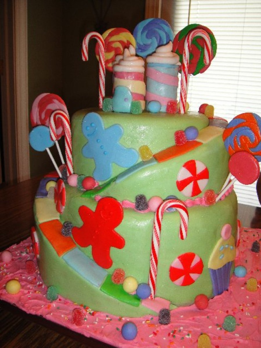 Candy Land All The Decoarations Are Made From Fondant Except The Candy Canes I Love This Cake on Cake Central