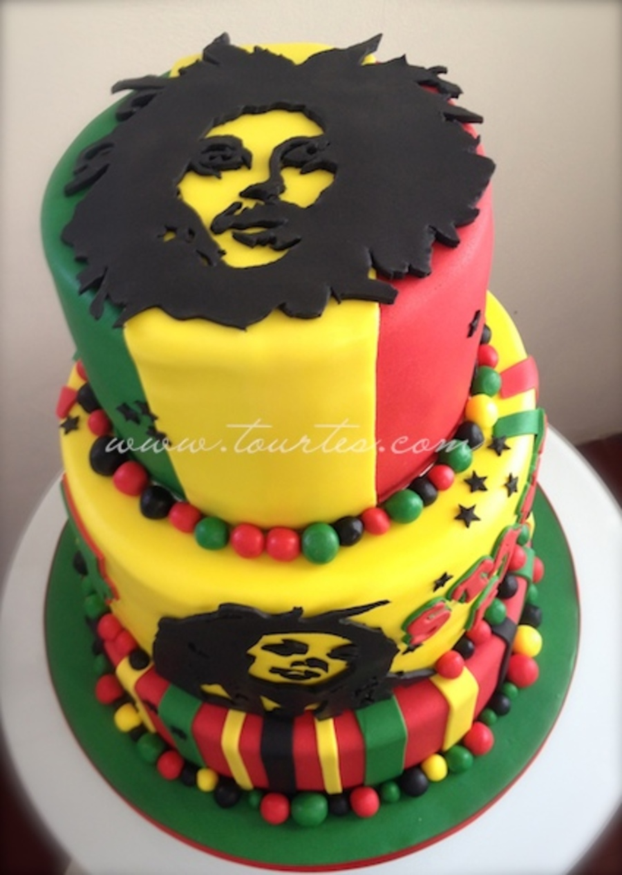Surprising Bob Marley Cake Cakecentral Com Personalised Birthday Cards Veneteletsinfo