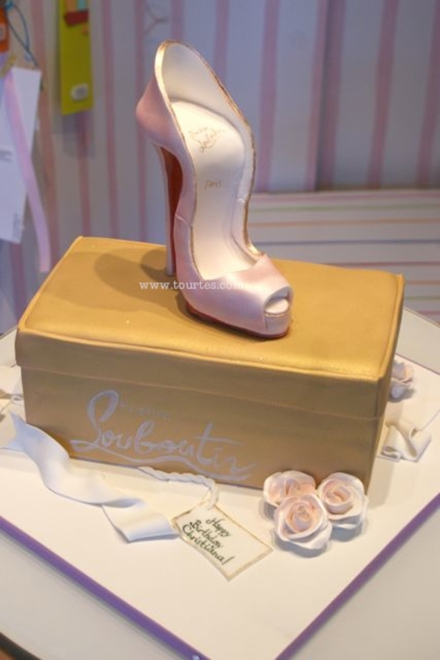Cake And Sugar Louboutin Shoe ( I Guess Size 36 Could Actually Wear It.) on Cake Central