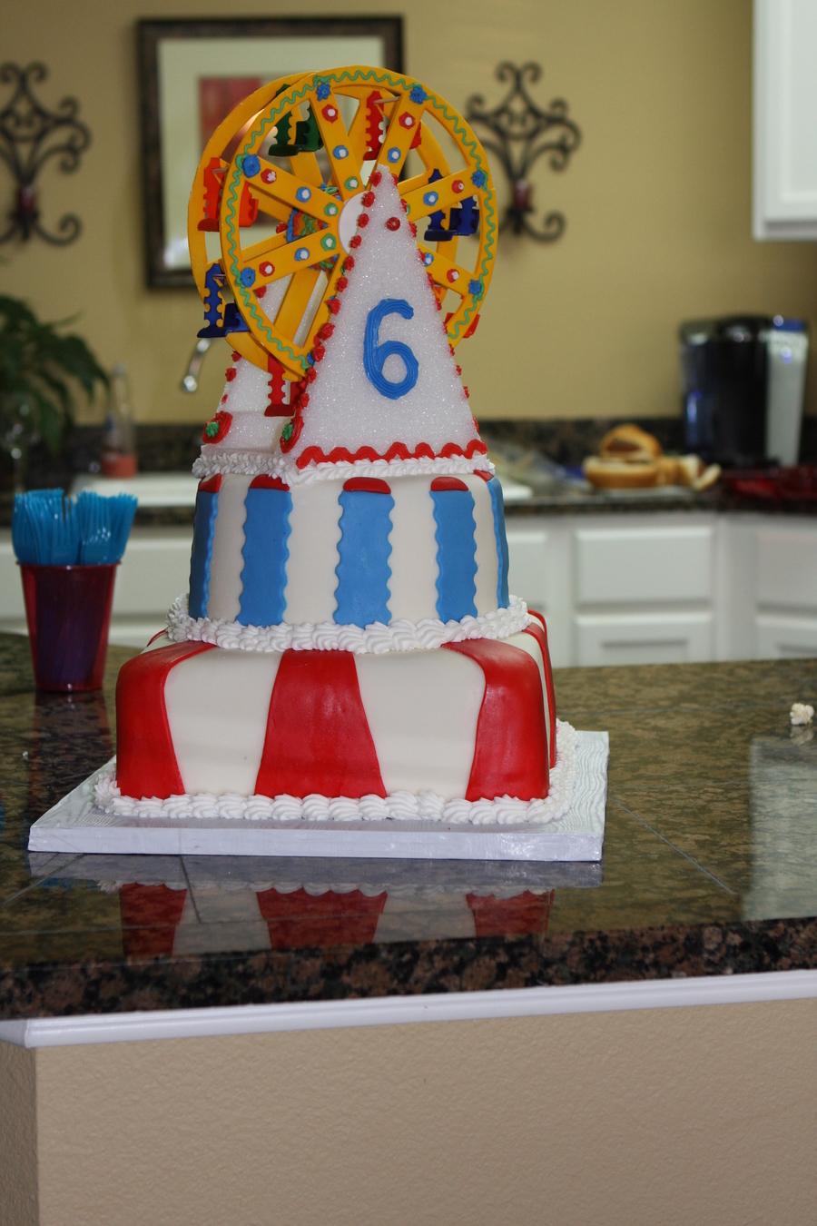 Carnival Ferris Wheel 6th Birthday Cake Cakecentral