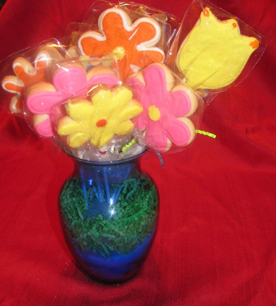 Sympathy Flower Cookie Bouquet - CakeCentral.com