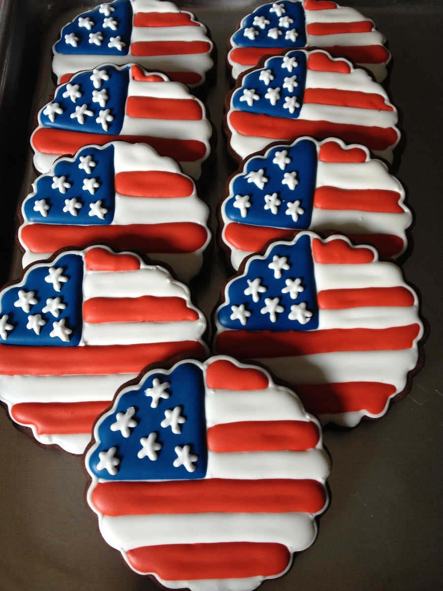 Flag Cookies on Cake Central