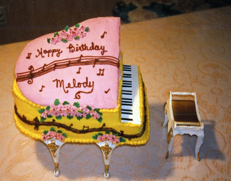 Her Name Is Melody So I Also Try To Make A Musical Theme Cake The Made With Wilton S Piano Kit