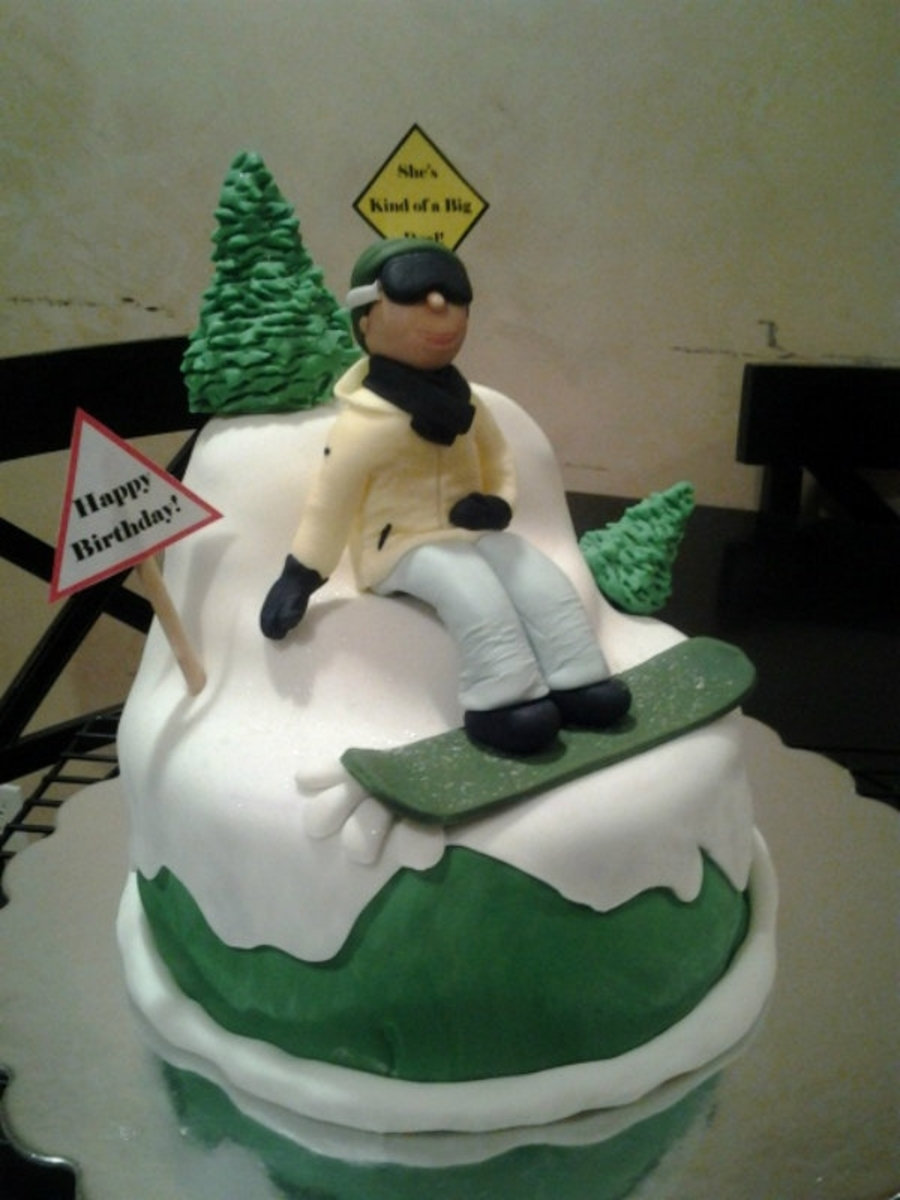 Snowboarder Birthday Cake on Cake Central