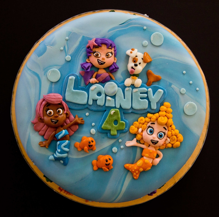 Groovy Bubble Guppies Birthday Cake Cakecentral Com Birthday Cards Printable Trancafe Filternl