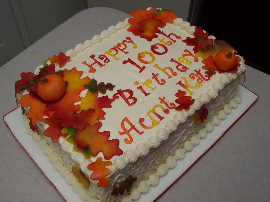 Fall 100Th on Cake Central