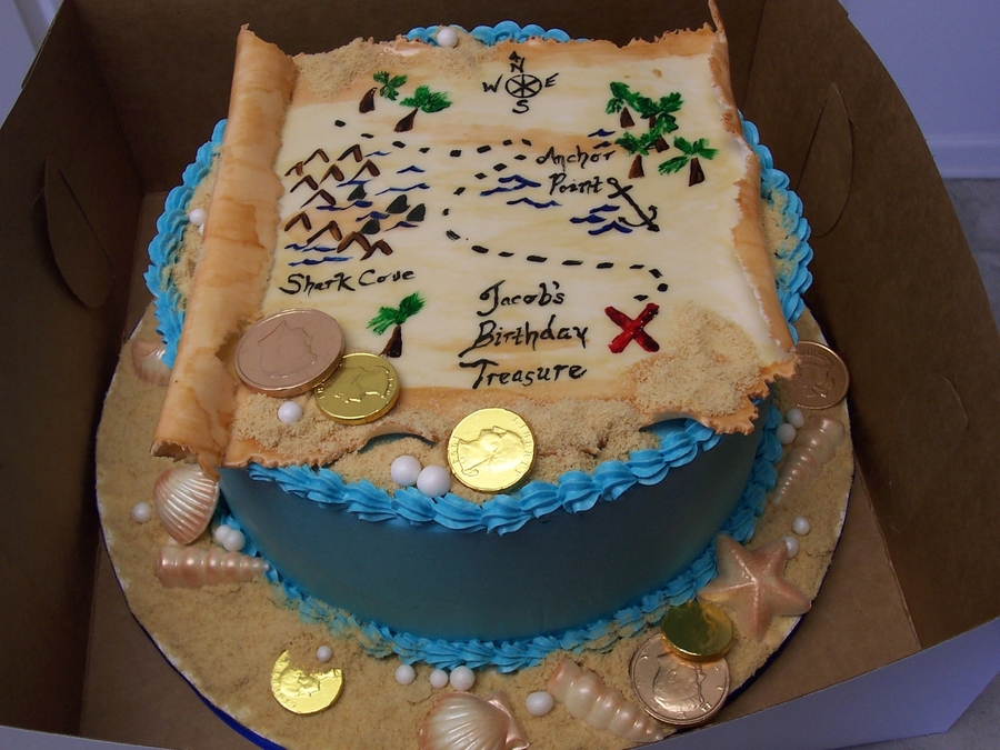 Pirate Treasure Map Cakecentral Com
