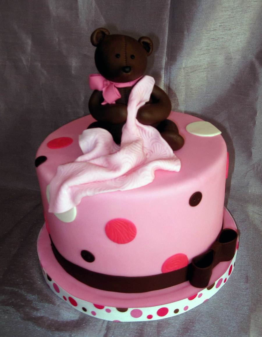 Baby Shower Bear  on Cake Central