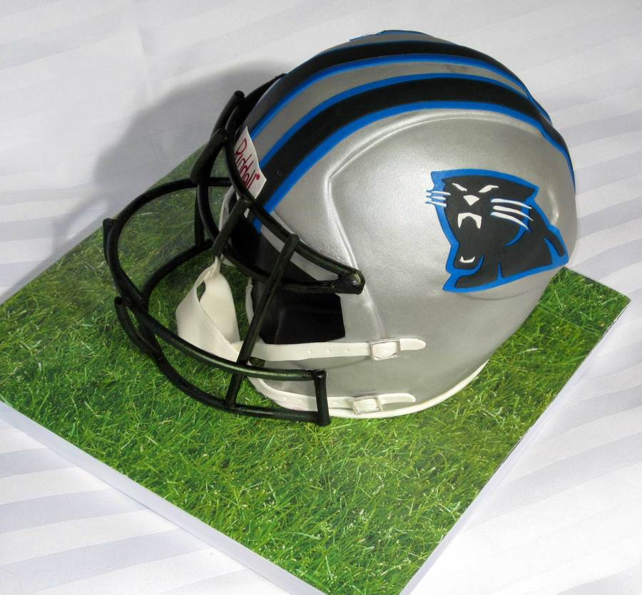 Football Panthers Helmet on Cake Central
