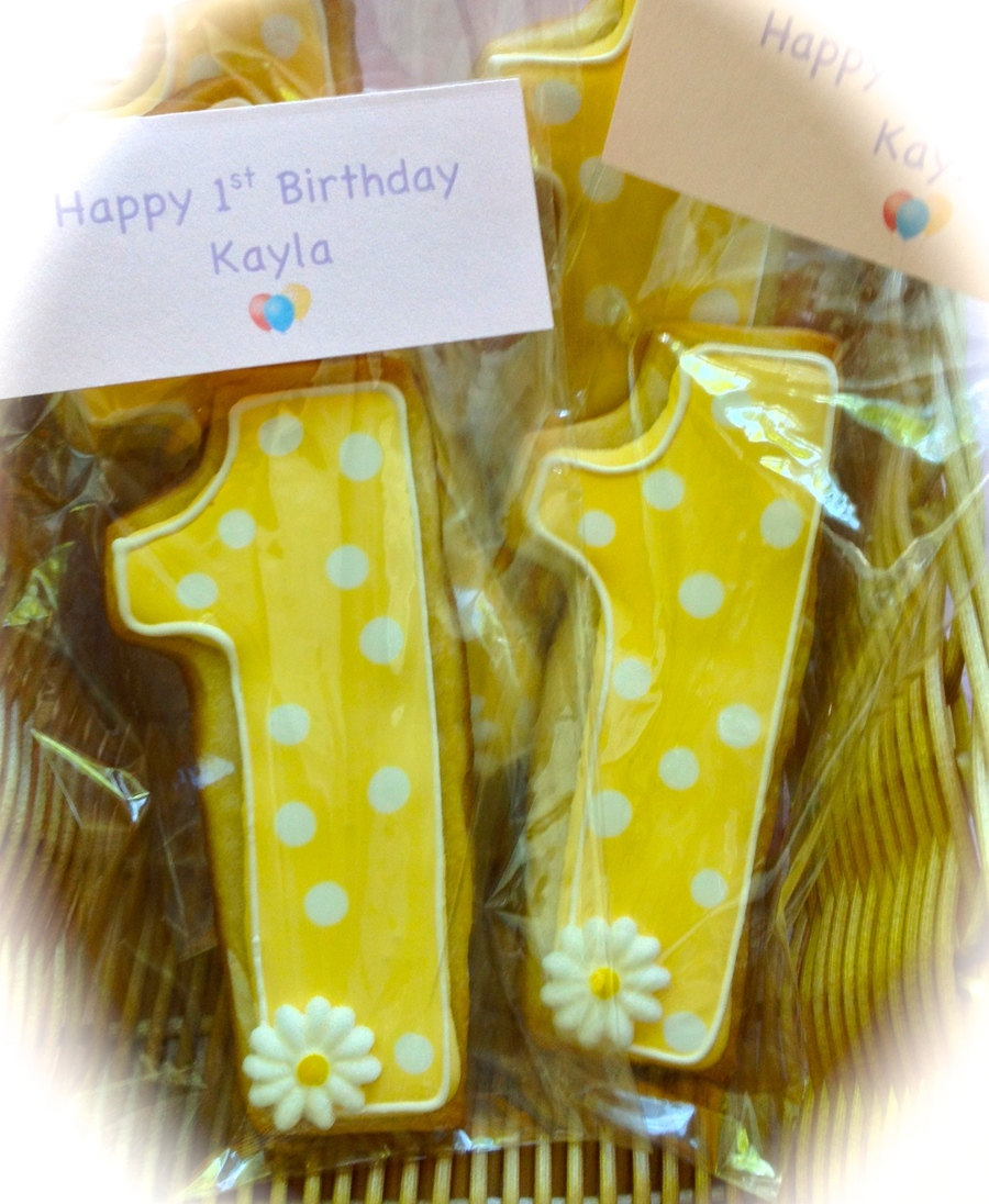 First Birthday Cookie Favors on Cake Central