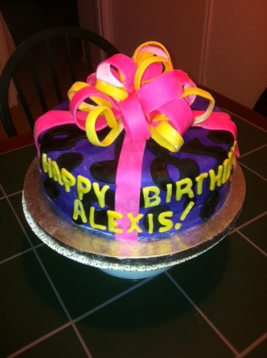 Alexis' Birthday Cake on Cake Central