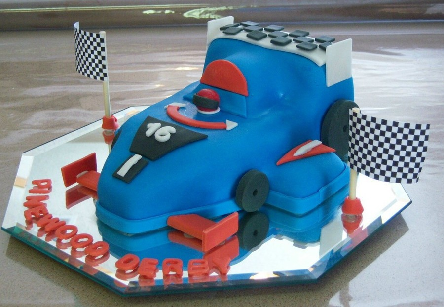 Pinewood Derby Car Cake On Central