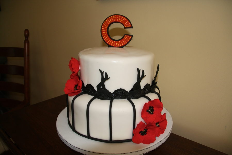chicago themed bridal shower challenging to incorporate the theme and have it pretty and for a bridal shower so prison bars on bottom layer