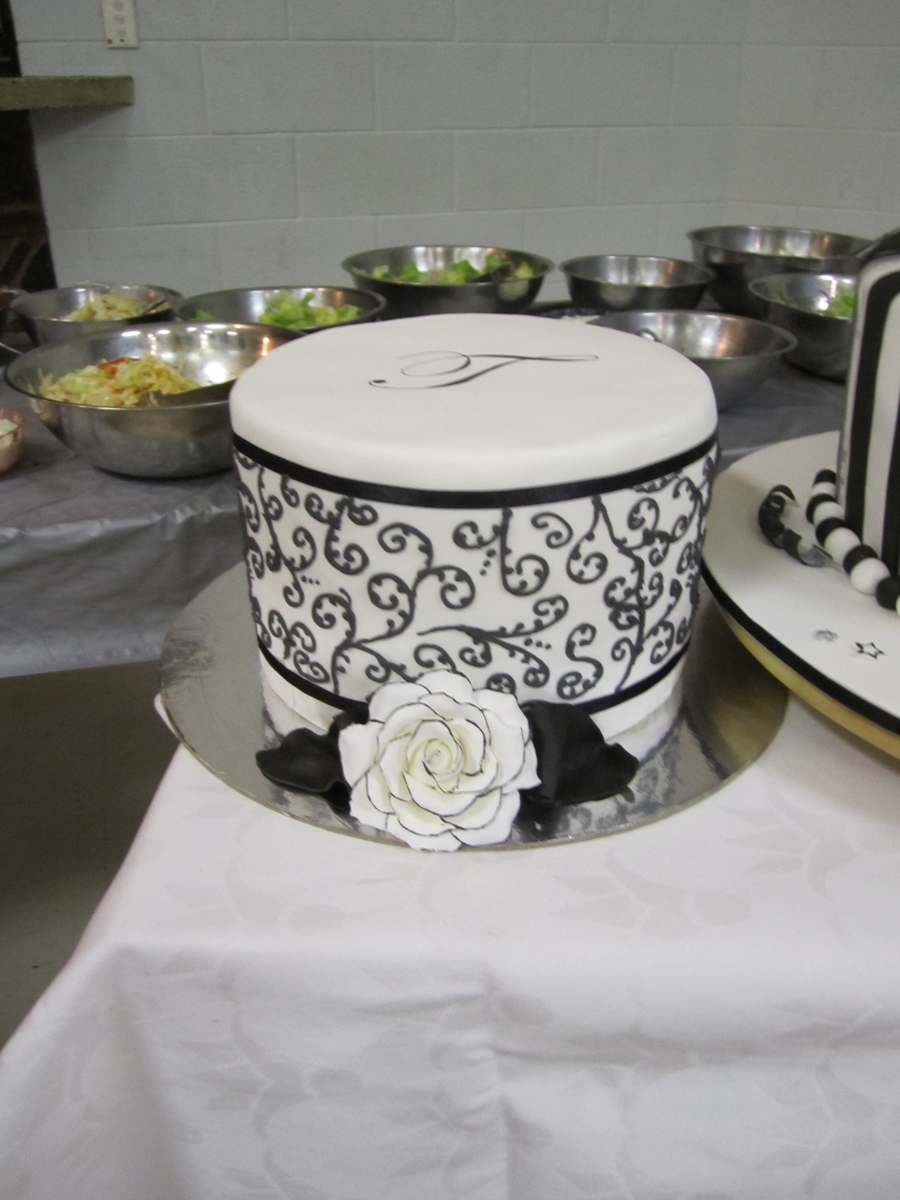 Black And White Themed Cake on Cake Central