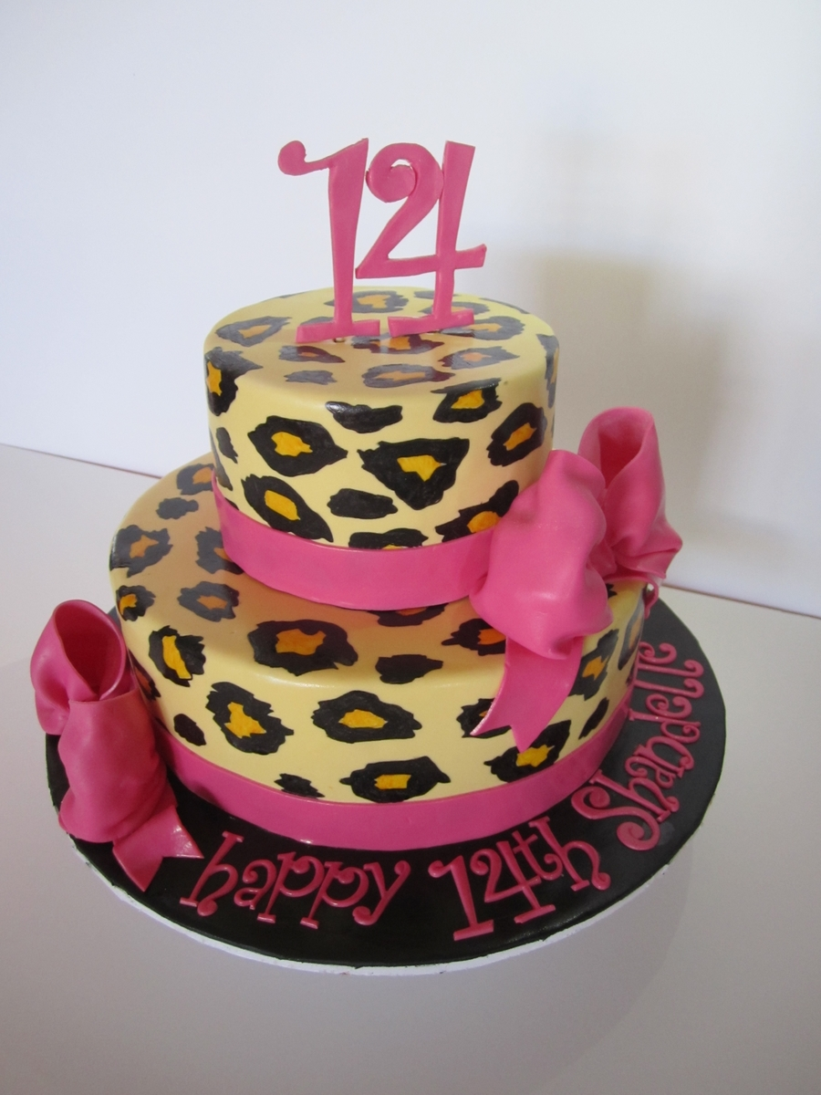 2 Tiered Leopard Print Cake on Cake Central