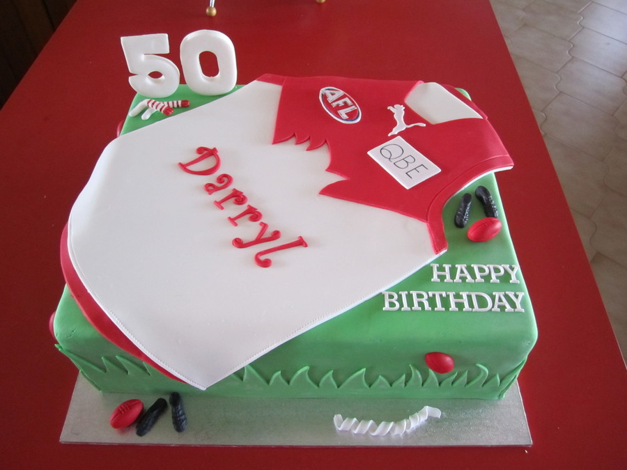 Sydney Swans Themed Cake on Cake Central