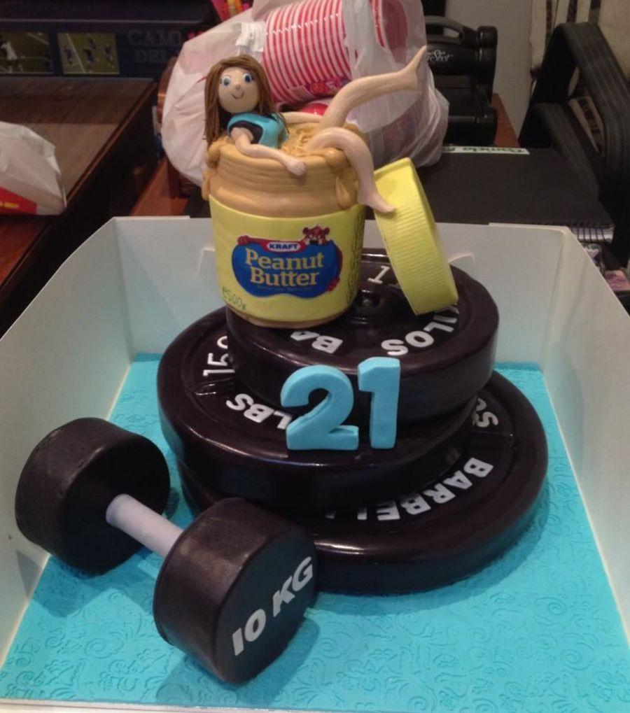 Dumbbell Birthday Cake