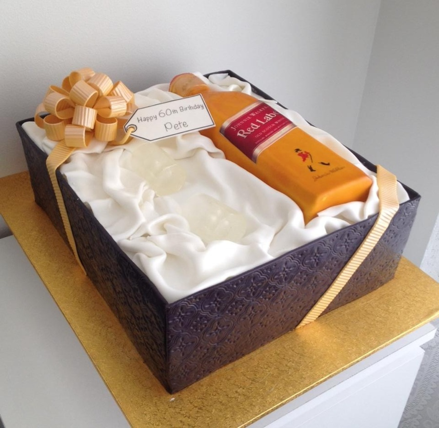 Johnnie Walker Gift Box Cake The Cake Is Chocolate Sponge
