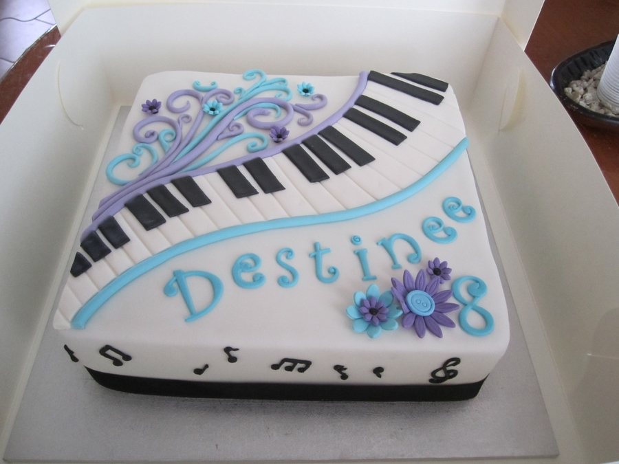 Piano Themed Cake on Cake Central