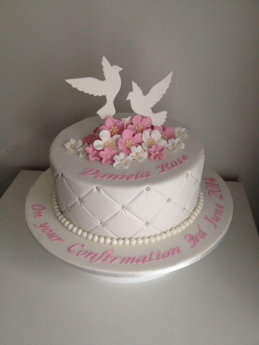 Dove Confirmation Cake Cakecentral Com