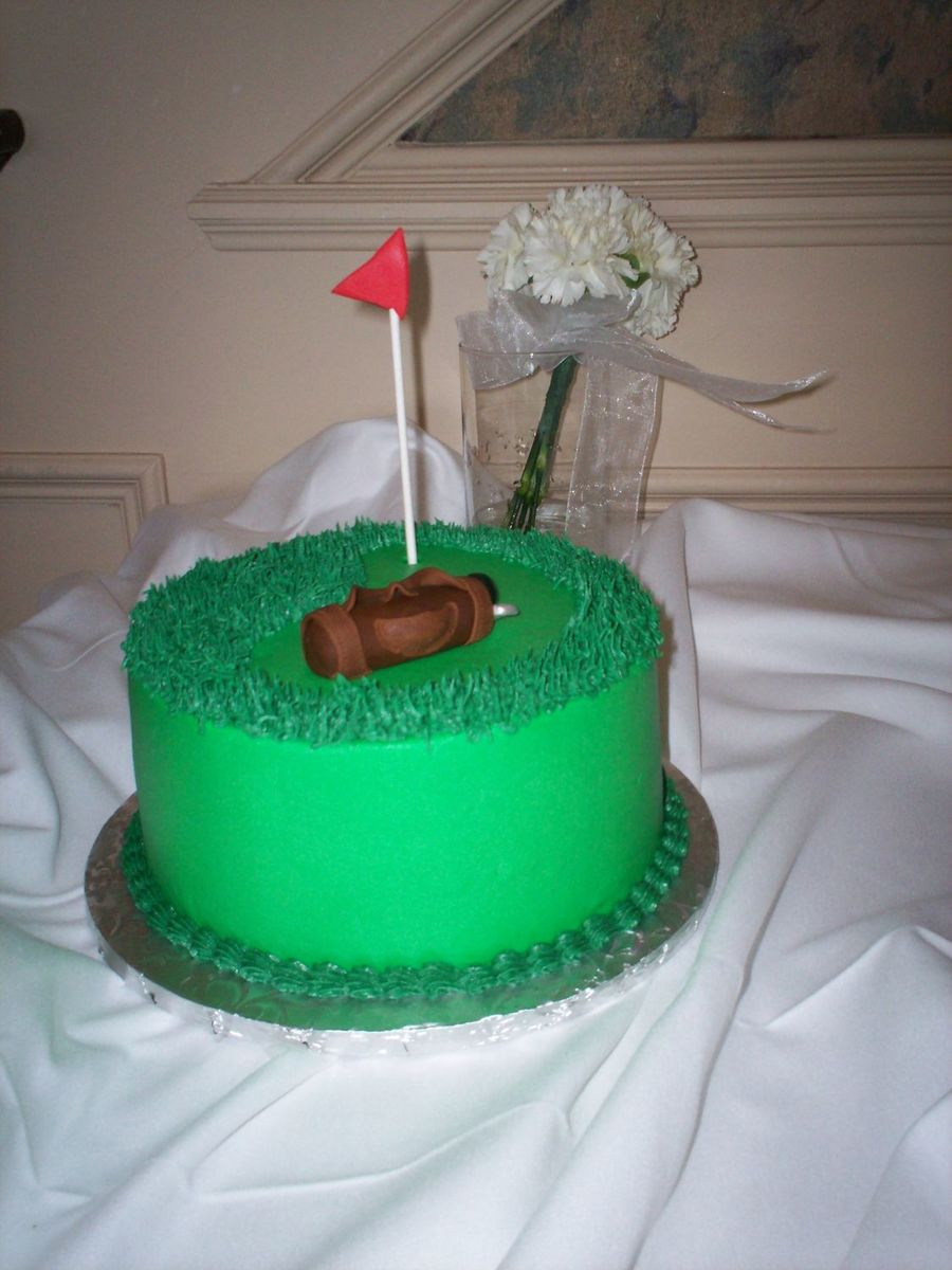 Grooms Golf Cake on Cake Central