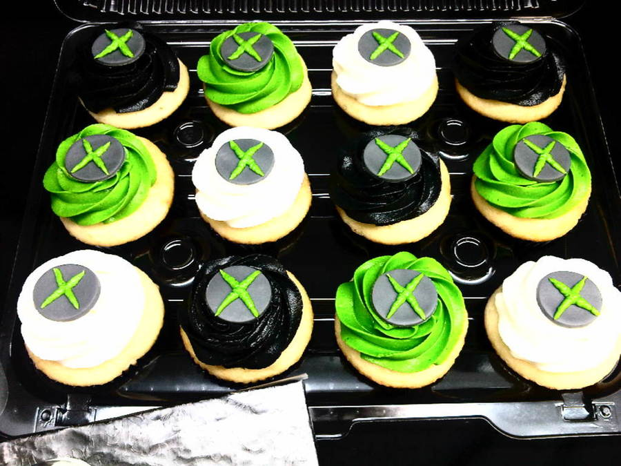 Xbox 360 cupcakes for Decoration xbox one