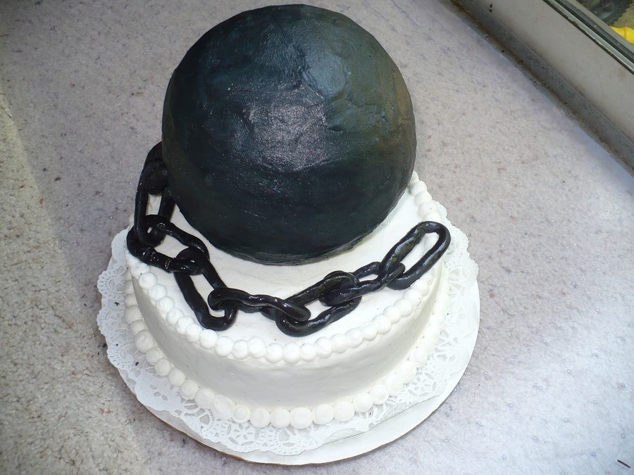 Ball & Chain on Cake Central