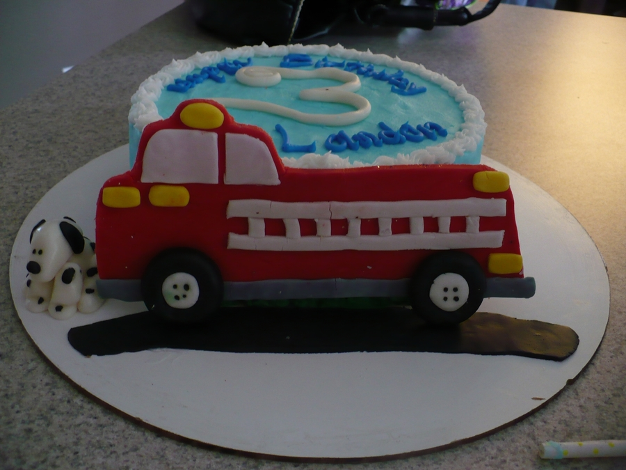 Firetruck Birthday Cake Cakecentral